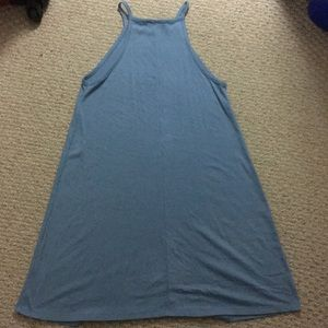 Forever 21 Dresses - F21 Light Blue Halter Neck Trapeze Flowy Dress
